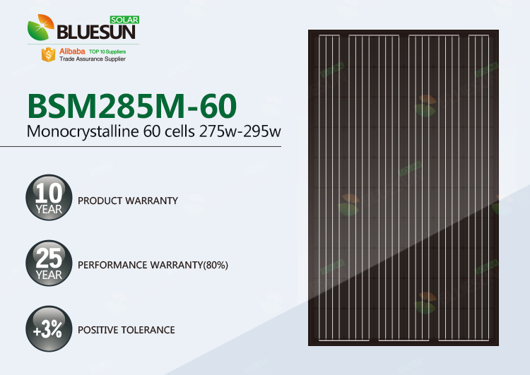 monocrystalline 285 watt solar panel