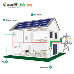 2kw grid tied solar power system 2kva power plant solar power system kits