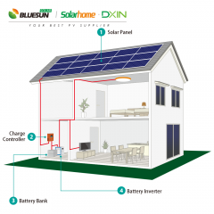 5KW off-grid solar power system for home use