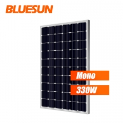 Bluesun high quality mono PV 320w solar panels 330 watt solar panel with solar panel mounting