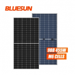 Half Cell 166mmx166mm Bifacial 455W Solar Panel