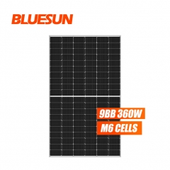 Bluesun 166mm 360w perc half cell mono solar panel