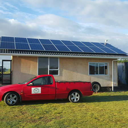 5kw av grid solsystem i New Zealand for bolig
